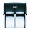 Georgia Pacific 567-44 Compact Quad Vertical Four Roll Coreless Tissue Dispenser, Translucent Smoke