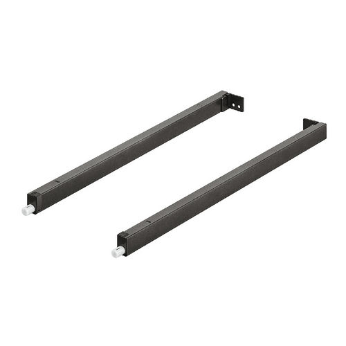 Hafele 551.60.722 Gallery Rail, Hafele MX, Rectangular, Pair