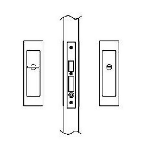 Hafele 911.26.792 Sliding/Pocket Door Lock, Privacy With Emergency Release, Each