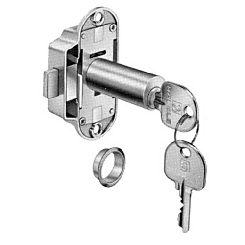 Hafele 225.62.812 Lock Extended Cylinder Right Hand, Nickel-Plated