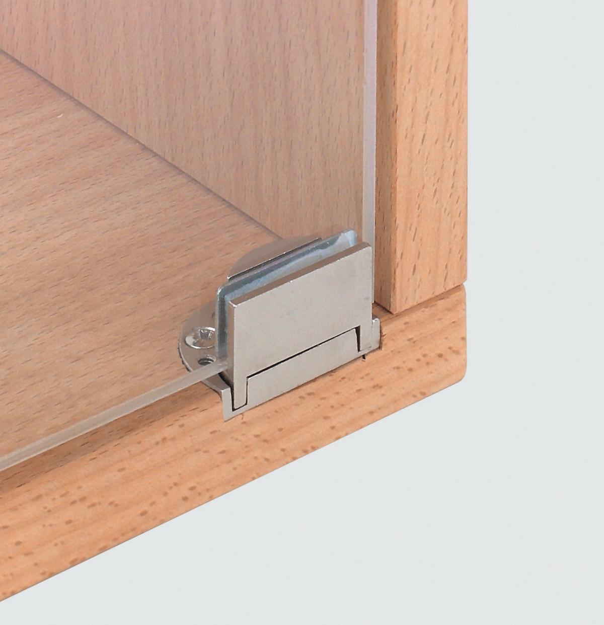 hafele clarior glass door hinge polished nickel