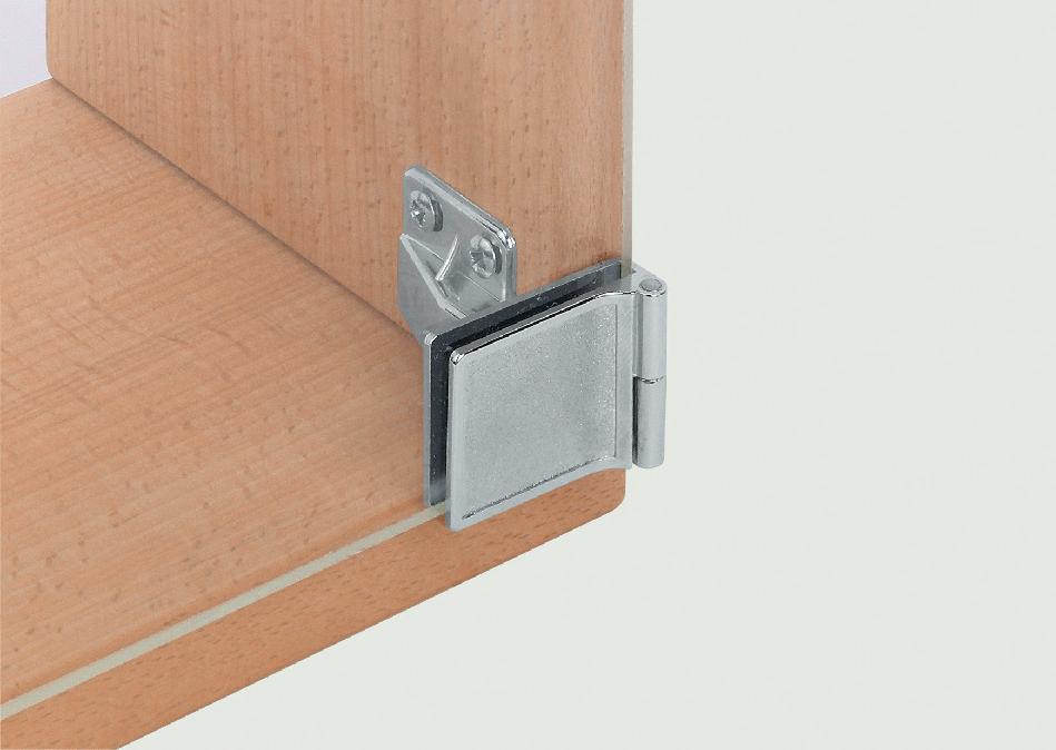 Hafele glass door hinge inset chrome