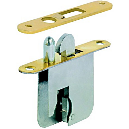 Hafele 230.37.201 Shutter Lock Case RH, Brass Plated