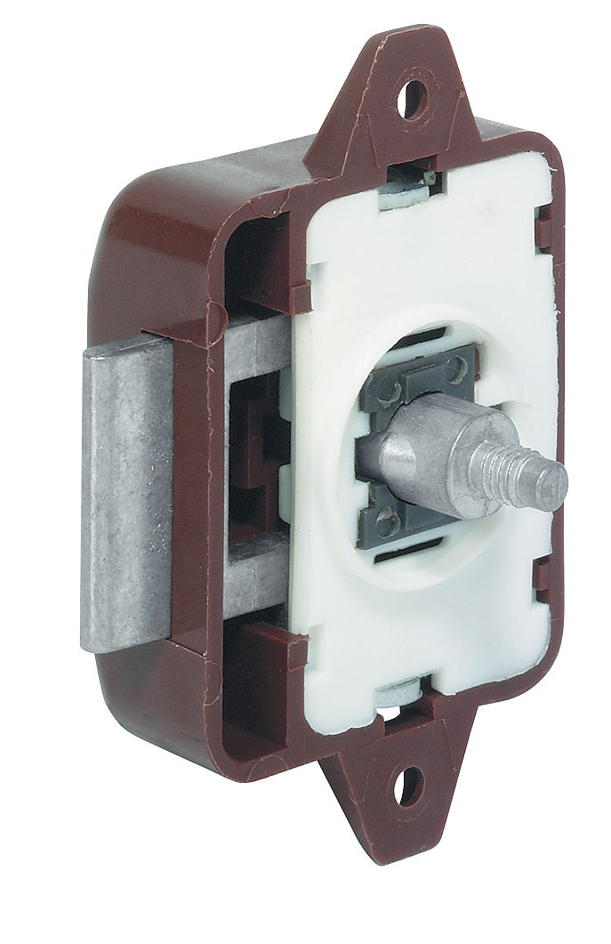 Hafele 225 22 103 Push Lock Plastic Brown Thebuilderssupply Com