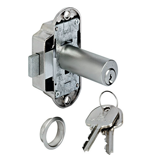 Hafele 225.62.910 Lock Extended Cylinder Left Hand , Nickel-Plated