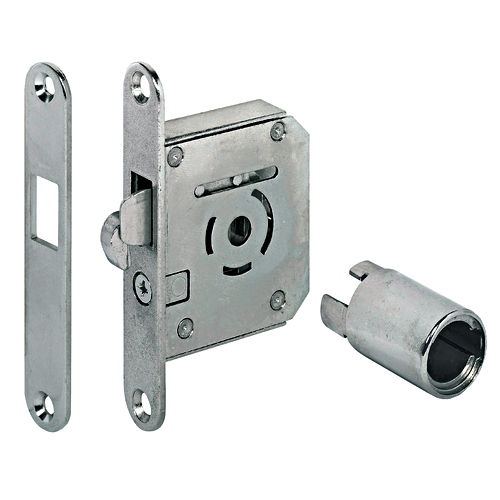 Hafele 230.36.600 Hook Bolt Mortise Lock Symo, Nickel