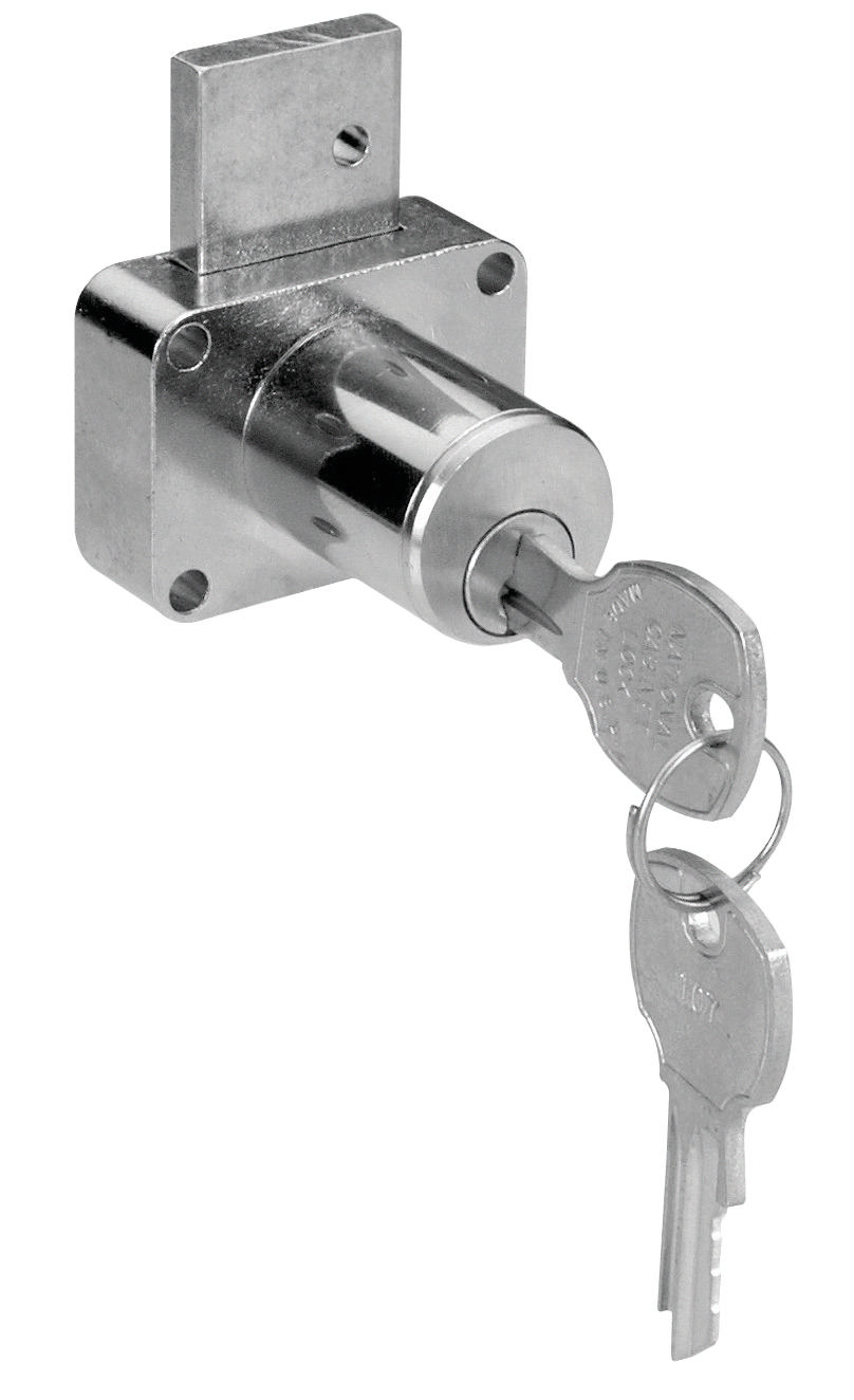 Hafele 232 14 300 Drawer Lock Brushed Chrome
