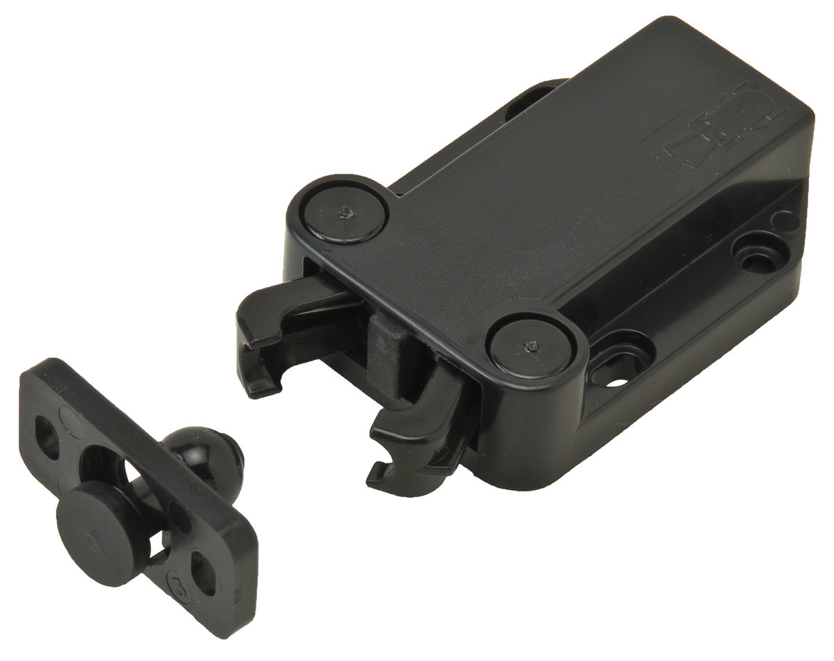 Hafele 245 50 301 Touch Latch Non Magnetic Plastic Black