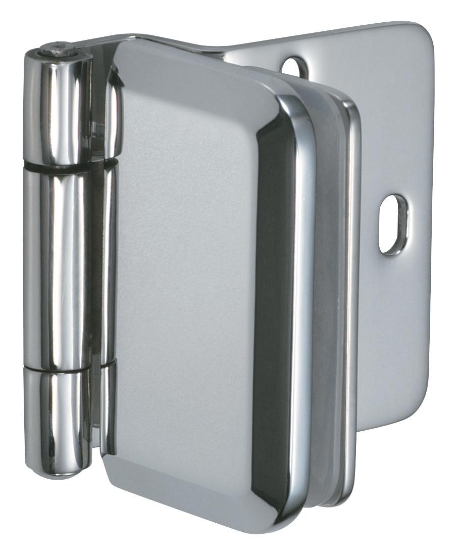 Hafele glass door hinge overlay stainless