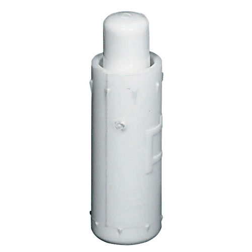 Hafele 402.90.006 Guide Bolt with Spring Loaded Pin, Nylon White