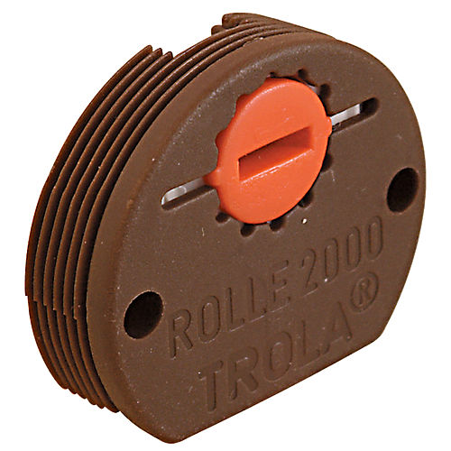 Hafele 404.20.139 Roller Bottom Guide with Adjustable Spindle, Plastic Brown