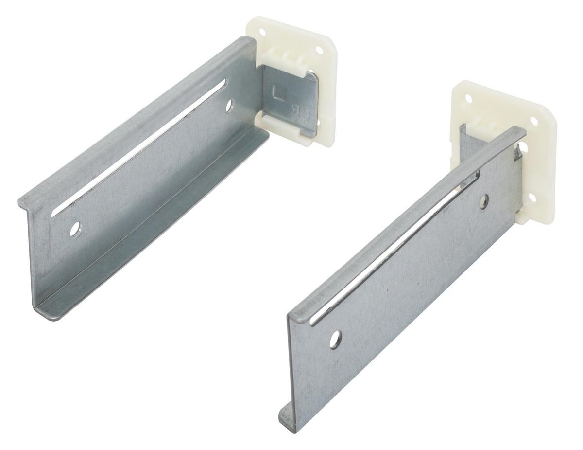 Kitchen Cabinet Undermount Drawer Slides Hafele 433 19 052 Rear Mounting Bracket Kit For 9 Quot Slide