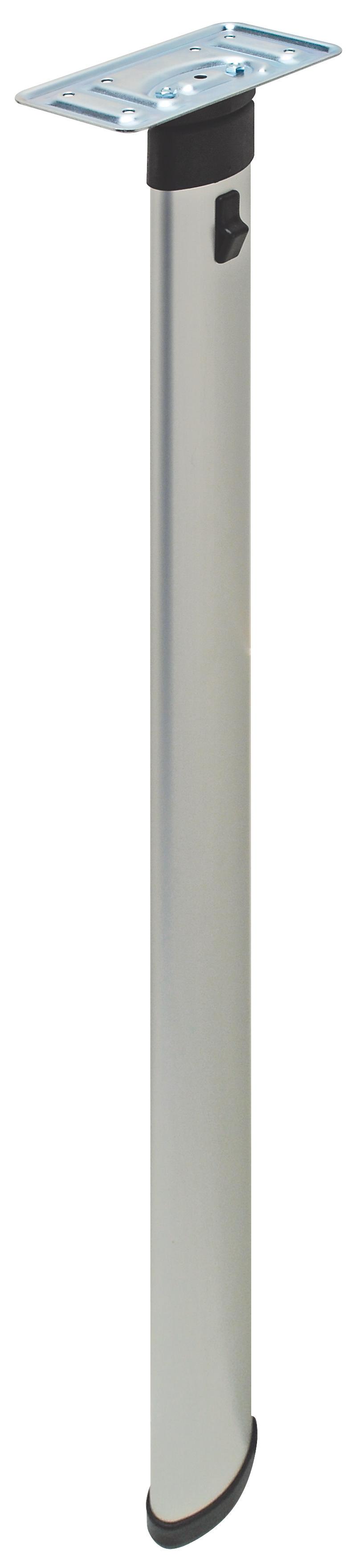Hafele 635 64 901 Folding Table Leg Epoxy Coated Silver