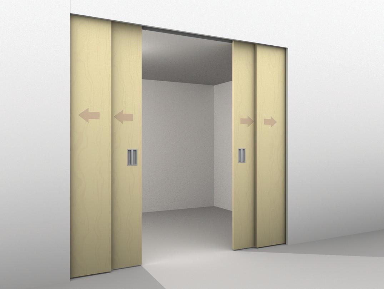 hafele fitting set for four panels. Black Bedroom Furniture Sets. Home Design Ideas