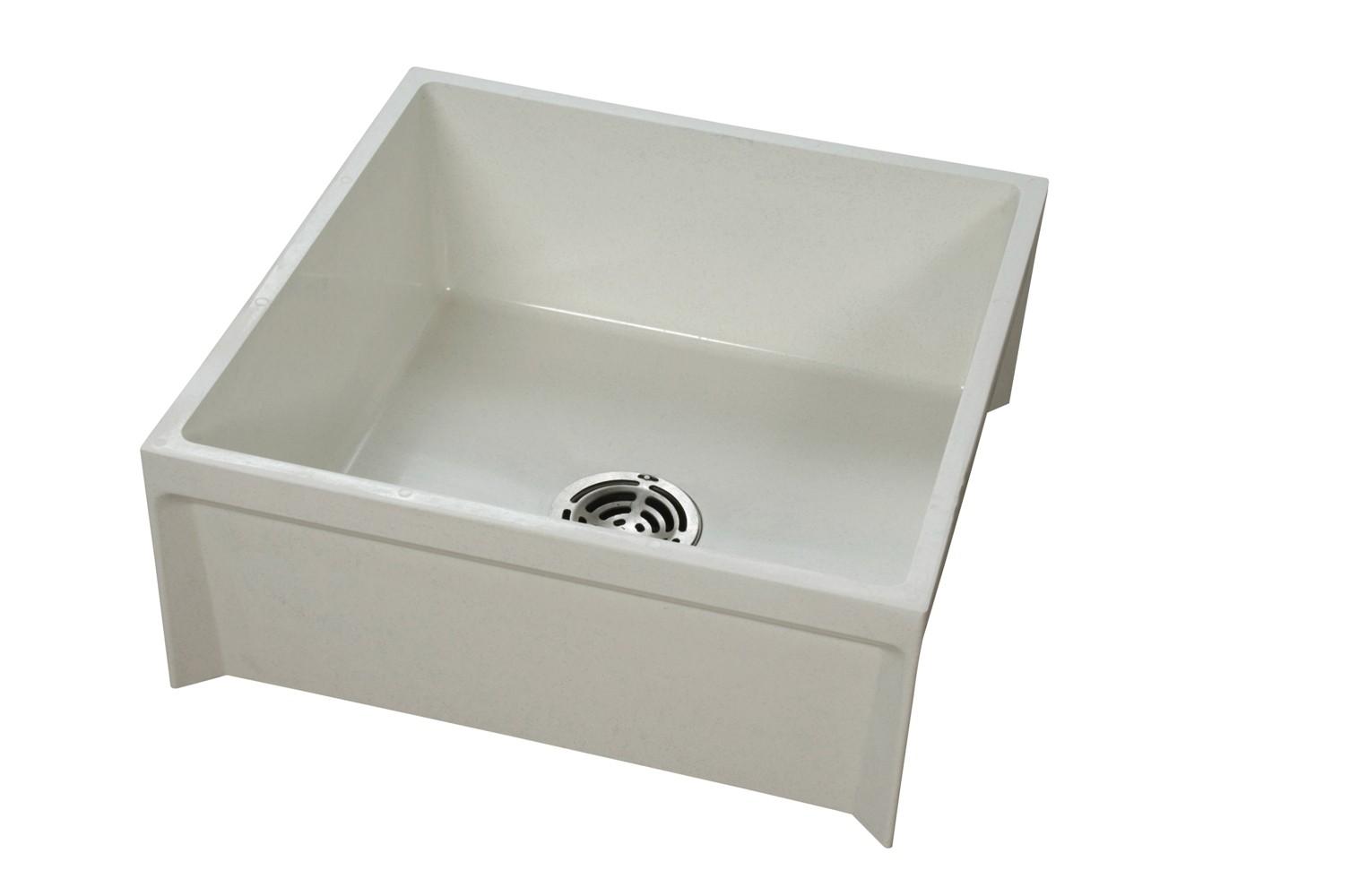 Mop Basins : Fiat MSB2424100 Mop Service Basin 24X24X10 White TheBuildersSupply ...