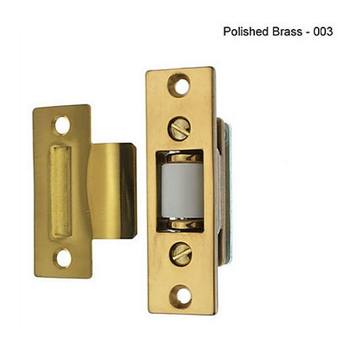 IDH 12028-005 Heavy Duty Silent Roller Latch with T-Strike, Adjustable, Antique Brass