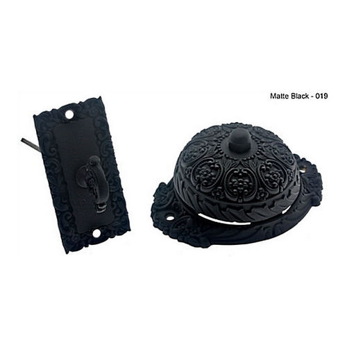 IDH 18055-019 Twist Bell with Ornate Dome, Matte Black