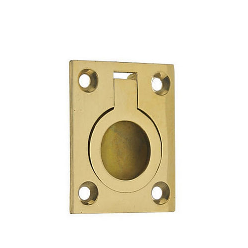 IDH 25220-004 Flush Ring Pull, Satin Brass