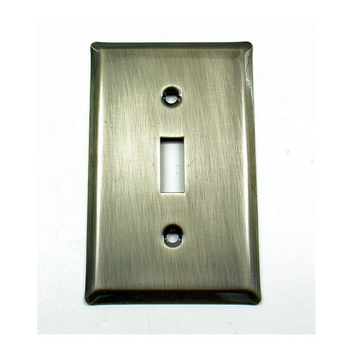IDH 28012-019 Square Single Switch Plate, Matte Black