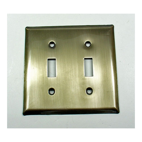 IDH 28018-10B Square Double Switch Plate, Oil-Rubbed Bronze