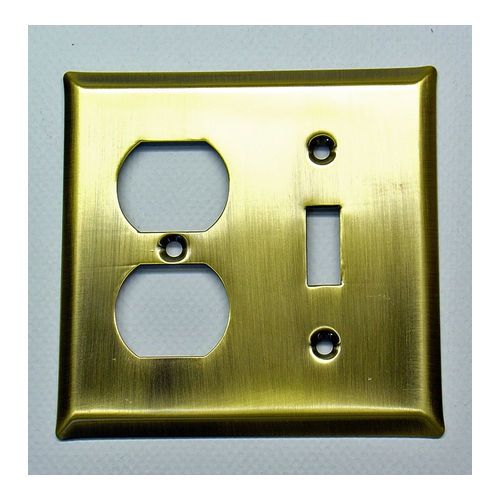 IDH 28020-10B Square Double Combo Plate, Oil-Rubbed Bronze