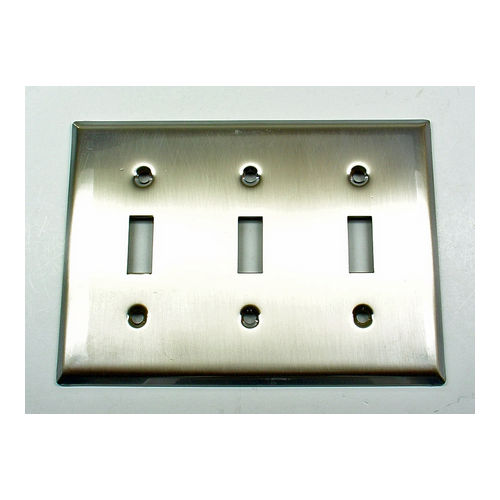 IDH 28022-019 Square Triple Switch Plate, Matte Black