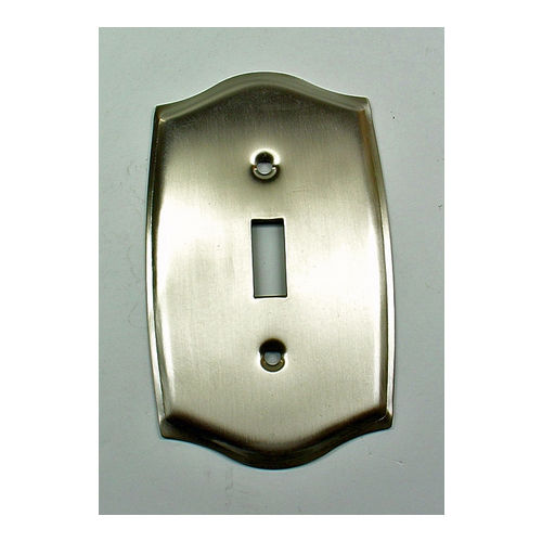 IDH 28032-019 Round Single Switch Plate, Matt Black