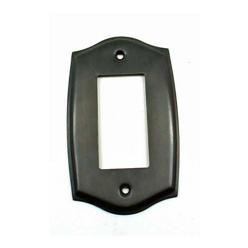 IDH 28044-10B Round Single Gfci Plate, Oil-Rubbed Bronze
