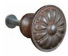 John Wright Company 88-756 Sun Burst Knob 28mm, Faux Brass