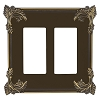 Keeler P31033-9370 Wallplate Double, Authentic Brass