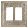 Keeler P31037-9347 Wallplate Double, Natural White Bronze