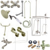 Kingston Brass CCK1188AX Vintage Clawfoot Tub Wall Mount Package with Metal Cross Handles, Satin Nickel