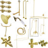 Kingston Brass CCK3142AL Vintage Clawfoot Tub Package with 22