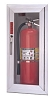Larsen's SS2409RA-FG Architectural Series Fire Extinguisher Cabinet, Full Glass