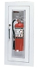 Larsen's SSC2409SM Cameo Series Stainless Fire Extinguisher Cabinet