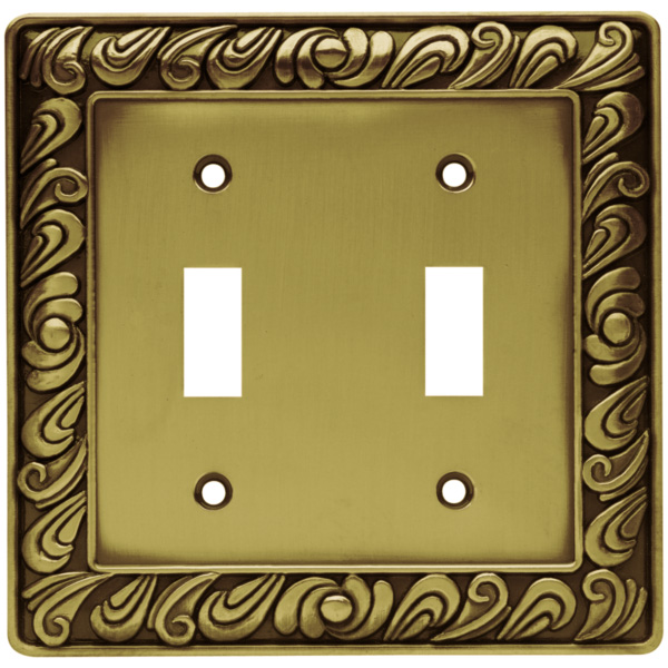 Brainerd 64040 paisley double switch wall plate - Wall switch plates decorative ...