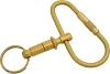 Malibu Keyrings R-101 Brass Quick Release Screw Key Ring