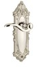 Grandeur 800007 Grande Victorian Plate Passage with Bellagio Lever in Polished Nickel