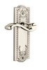 Grandeur 800008 Parthenon Plate Passage with Portofino Lever in Polished Nickel
