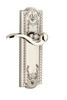 Grandeur 800009 Parthenon Plate Passage with Bellagio Lever in Polished Nickel