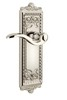 Grandeur 800015 Windsor Plate Passage with Bellagio Lever in Polished Nickel