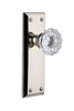 Grandeur 800020 Fifth Avenue Plate Passage with Fontainebleau Knob in Polished Nickel