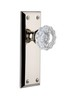 Grandeur 800025 Fifth Avenue Plate Passage with Versailles Crystal Knob in Polished Nickel