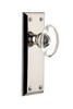 Grandeur 800028 Fifth Avenue Plate Passage with Provence Crystal Knob in Polished Nickel