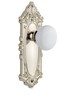 Grandeur 800029 Grande Victorian Plate Passage with Hyde Park Knob in Polished Nickel