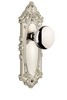 Grandeur 800030 Grande Victorian Plate Passage with Fifth Avenue Knob in Polished Nickel