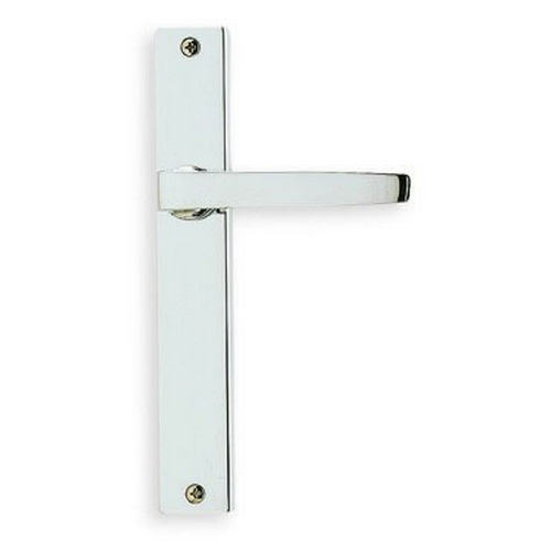 Omnia 17036.26SDLH LH 36 Lever with 17000 Plate Single Dummy Narrow Plate Lock Polished Chrome