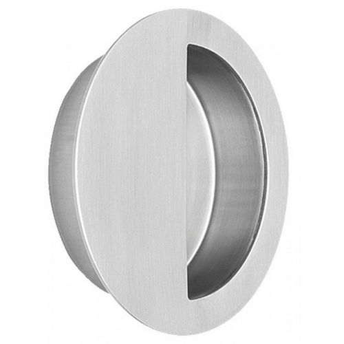 Omnia 7507.32D Round Half Covered Flush Pull 3-9/16