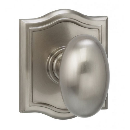 Omnia 434AR/0.PD15 434 Knob with Arched Rose Dummy Pair Satin Nickel