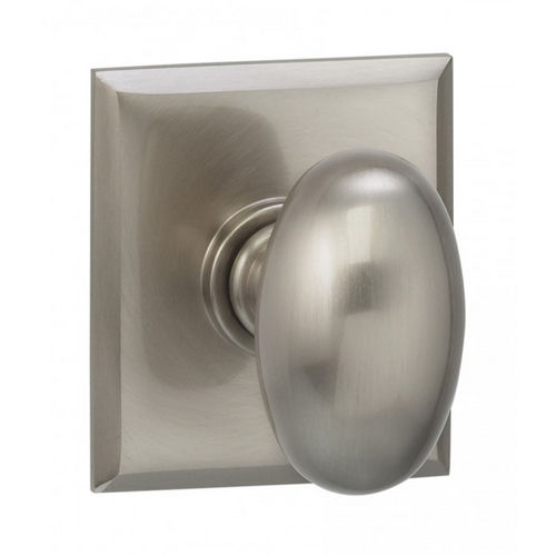 Omnia 434RT.10BPR 434 Knob with Rectangular Rose Privacy with 2-3/8